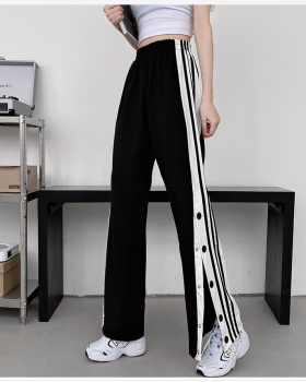 All-match college style loose Casual sweatpants for women