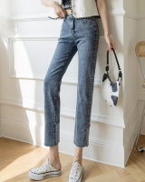 Slim spring pants high waist straight pants jeans for women