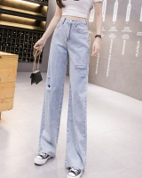 High waist drape summer pants loose slim thin jeans for women