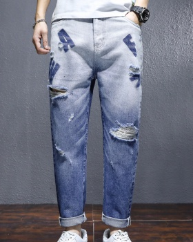 Fashion Casual jeans beggar holes pants for men