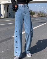 High waist mopping pants loose large yard jeans for women
