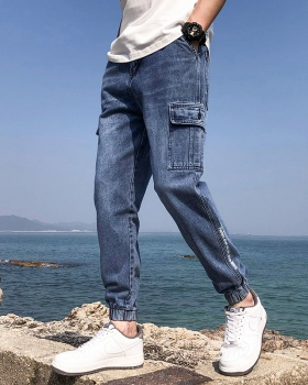 Straight work pants spring and summer casual pants for men