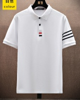 Lapel slim tops short sleeve T-shirt for men