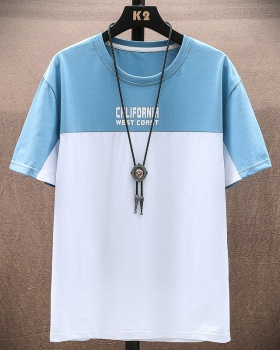 Chinese style short sleeve thin big loose T-shirt for men