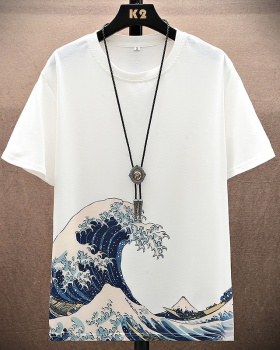 Summer short sleeve round neck loose fashion couples T-shirt