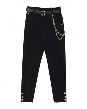 Simple Casual small with belt summer European style suit pants