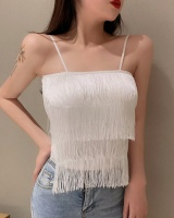 Sling wears outside sexy vest spring halter tassels tops