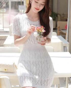 Hollow Western style spring and summer dress