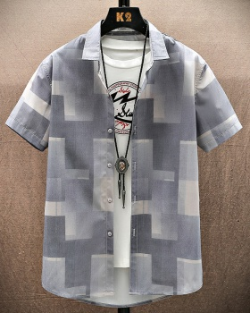 Short sleeve handsome shirts thin shirt for men
