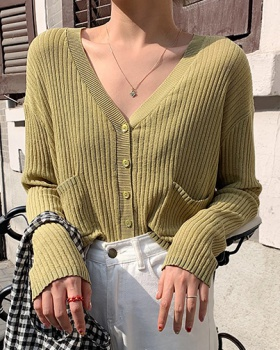 Korean style student T-shirt loose knitted sun shirt