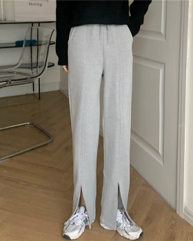 High waist straight loose all-match casual pants