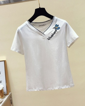 Pure cotton tops slim T-shirt for women