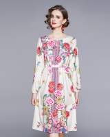 Printing spring fashion temperament dress for women