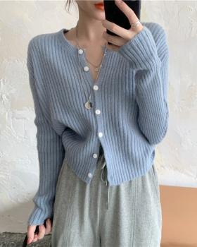 Fashion Western style knitted cardigan slim Casual tops