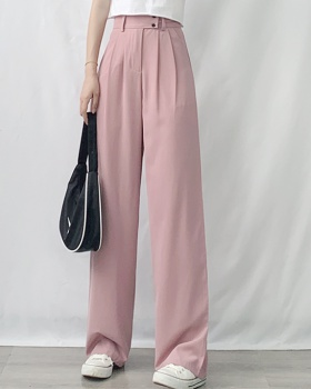 Loose drape suit pants straight mopping pants for women