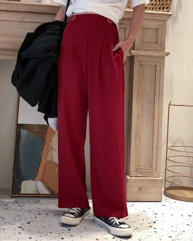 Loose wide leg suit pants mopping long pants for women