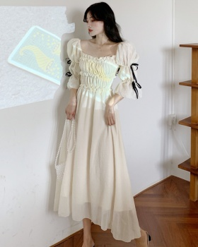 Trumpet sleeves high waist frenum France style court style dress