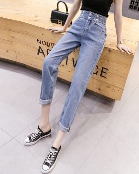 Spring high waist pants slim pencil pants for women