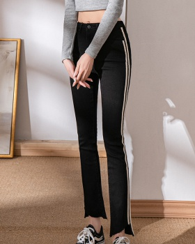 Spring all-match jeans elasticity flare pants for women