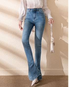 Slim temperament flare pants all-match jeans for women