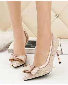 Pointed low shoes banquet high-heeled shoes for women