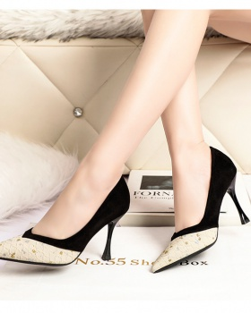 Nightclub shoes pointed high-heeled shoes for women