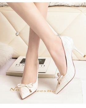 Fashion pointed shoes slim high-heeled shoes for women