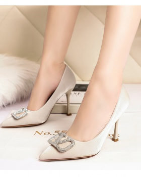 Side buckle shoes fashion high-heeled shoes for women