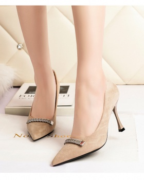 Pointed shoes rhinestone high-heeled shoes for women
