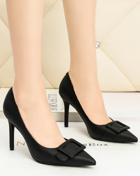 Slim Korean style high-heeled shoes side buckle sexy shoes