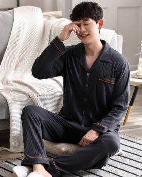 Autumn and winter cardigan Casual pajamas a set for men