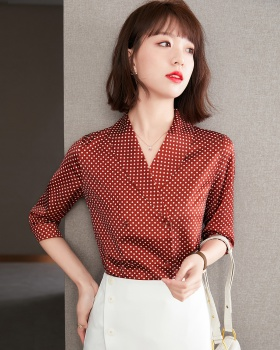Spring and summer retro tops short sleeve shirt