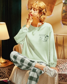 Long sleeve at home sweet style long pants a set for women