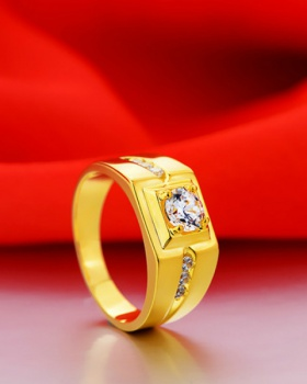Simulation diamond domineering accessories gold ring