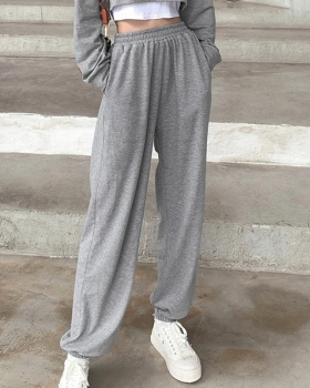 European style pure sweatpants all-match casual pants