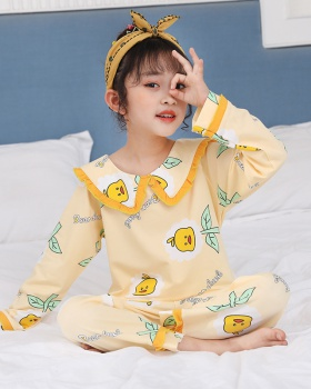 Baby long sleeve homewear spring and autumn pajamas a set