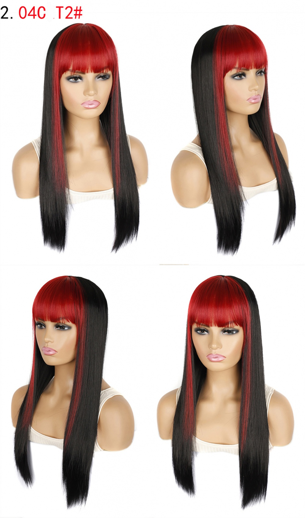 Long anime hip-hop bangs prom bleaching colors wig