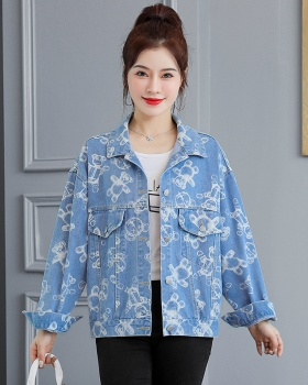 Fashion and elegant Casual tops denim spring and autumn coat