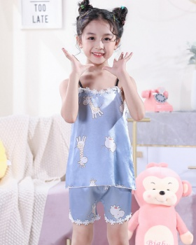 Sling child pure shorts lace summer pajamas a set for women