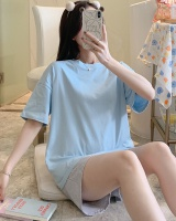 Short sleeve pajamas maiden shorts 2pcs set for women