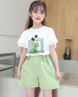 Big child Western style short sleeve T-shirt 2pcs set