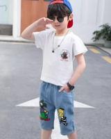 Child boy short sleeve kids baby summer shorts a set