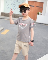 Western style baby boy short sleeve Casual child T-shirt 2pcs set