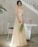 Spring and summer performance clothing slim long dress