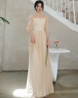 Slim performance clothing spring and summer long dress