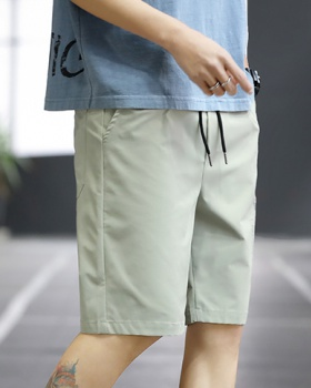 Straight thin Casual shorts Korean style fashion pants for men