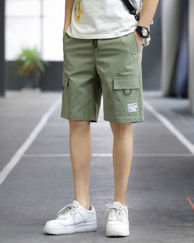 Thin pure work clothing Casual straight shorts for men