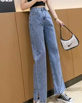 Thin mopping jeans straight pants summer wide leg pants for women