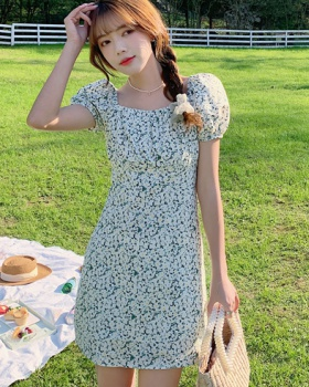 Romantic slim short sleeve summer dress for women