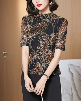 Summer slim T-shirt pullover all-match small shirt for women
